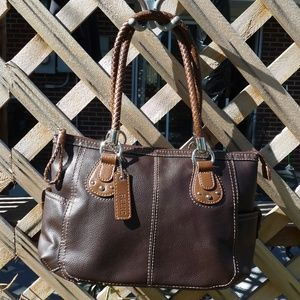 RELIC Brown Leather Satchel